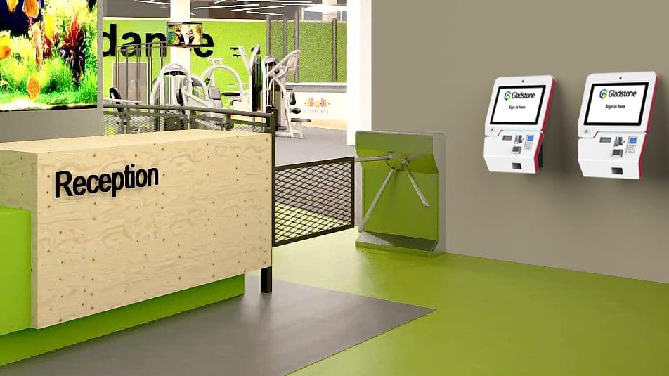 Kiosk v2 - reception render wall mount CU